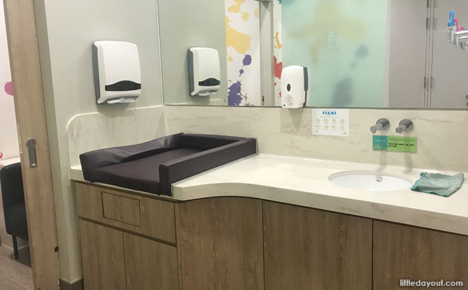 White Sands Nursing Room, Diaper Changing Area