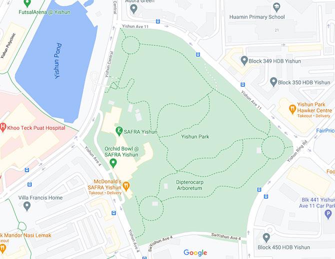 Yishun Park map