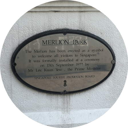 Old Merlion Park Sign, Singapore