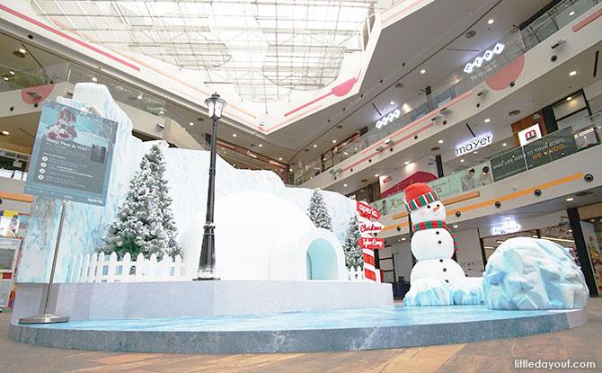 Wintery landscape at Aperia Mall