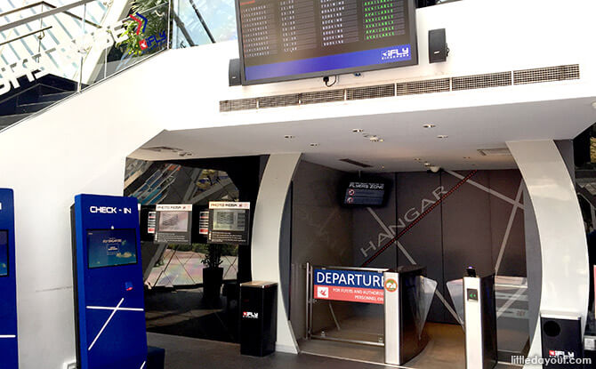 Check-in at at iFly Singapore
