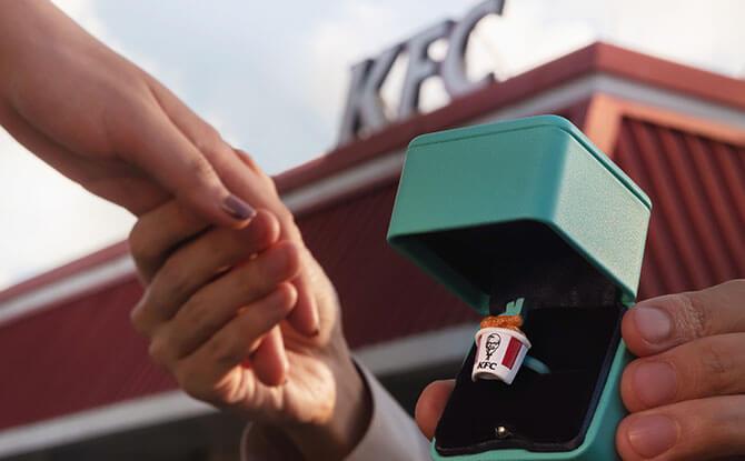 KFC Bucket Ring: Delivering Love