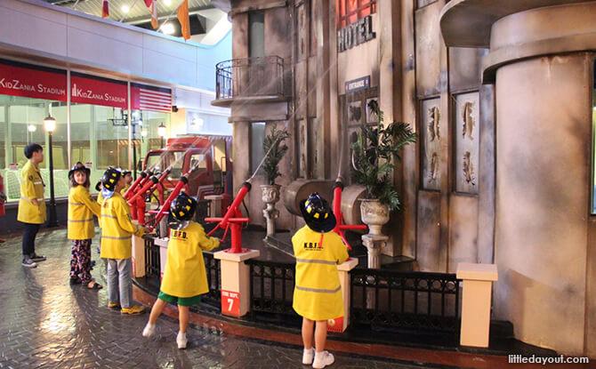 Firemen at KidZania Singapore