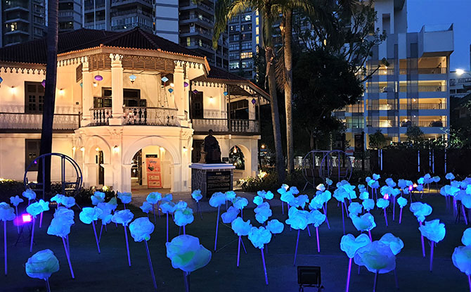 'Moonflowers of Mid-Autumn' Art Installation