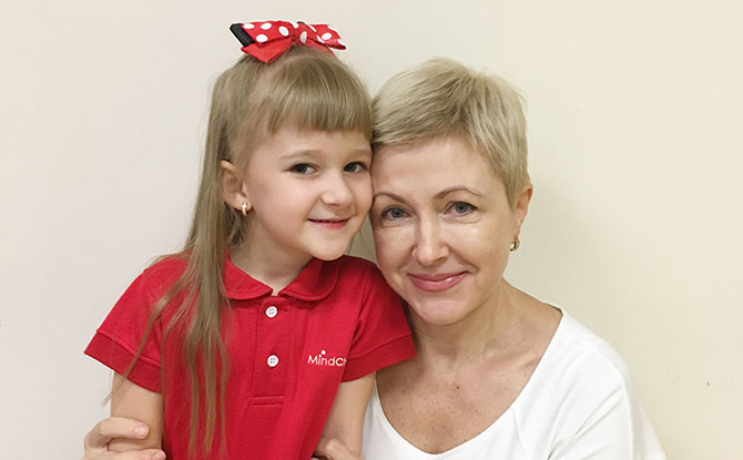 Natalia Nesterenko and her daughter.