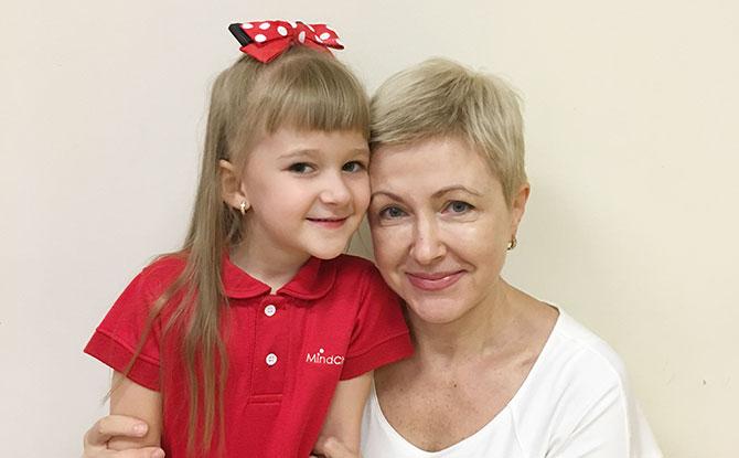 Natalia Nesterenko and her daughter.
