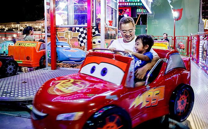 Car rides at the Marina Bay Carnival 2019