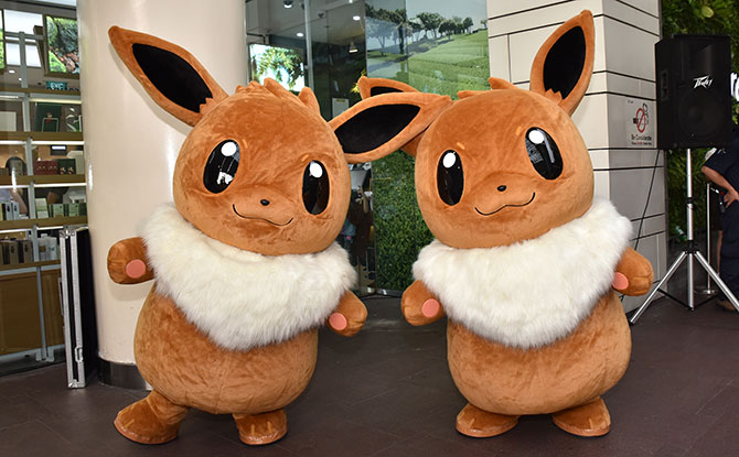 Eevee Mascot's debut appearance in Singapore