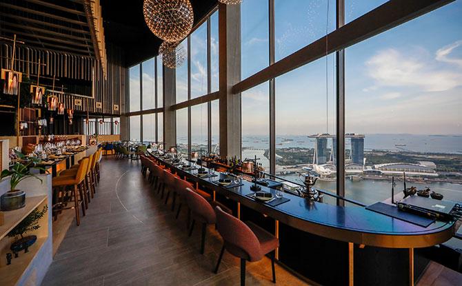 Enchanting View at SKAI restaurant