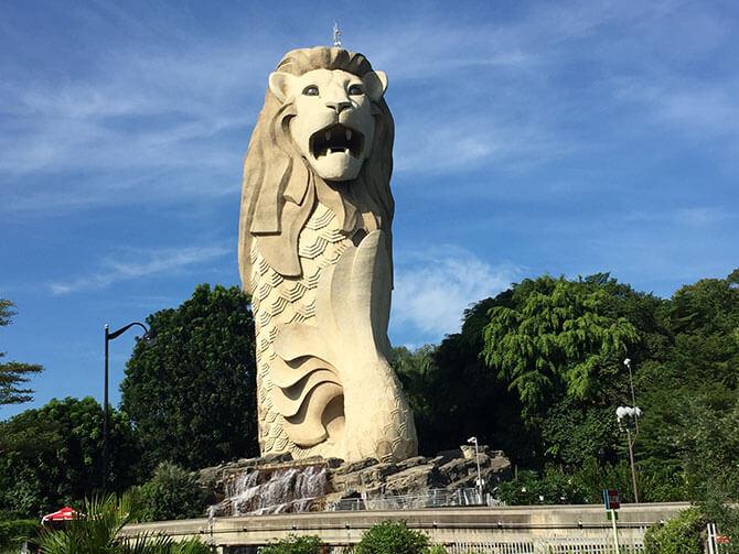 Singapore's Guardian of Prosperity, the Sentosa Merlion