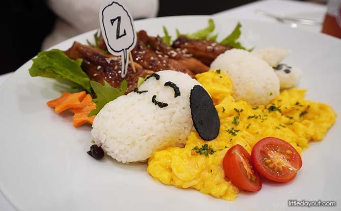 Teriyaki Chicken Dish at Snoopy Cafe