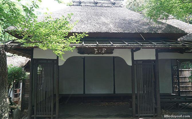 Tea ceremony house at Ueno Zoo