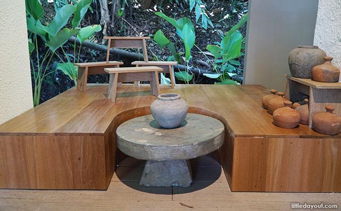 Pottery-making display