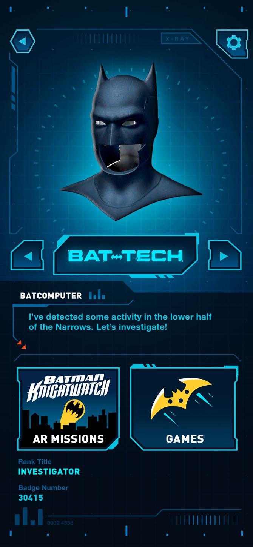 Suit up with the first-ever Batman Bat-Tech AR app