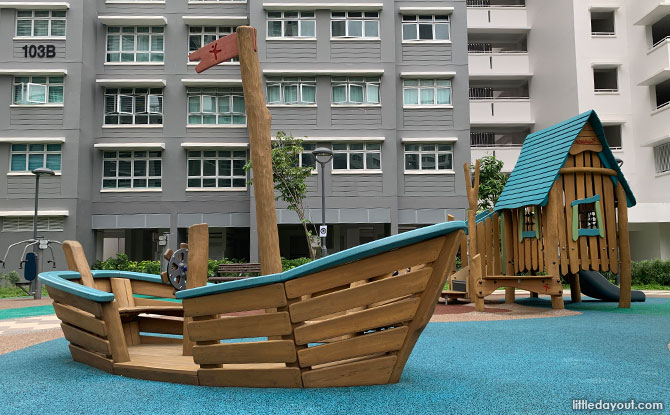 Wooden boat at EastCreek @ Canberra Playground
