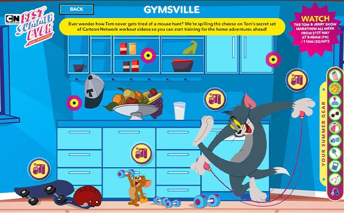 Movement in Gymsville with Tom and Jerry