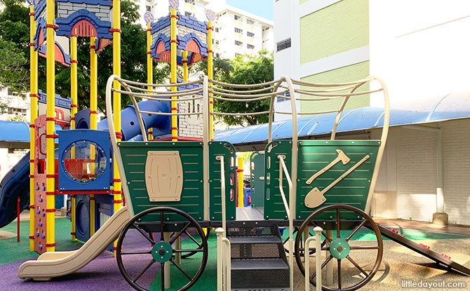 Clementi Castle & Wagon Playground: Climb Aboard & To The Top