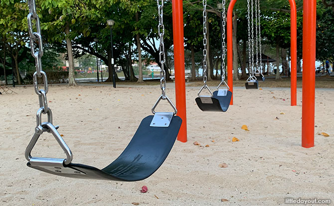 Swings at Changi Beach Playground