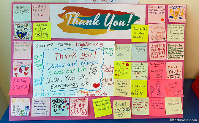 Leave a handwritten note at a community centre