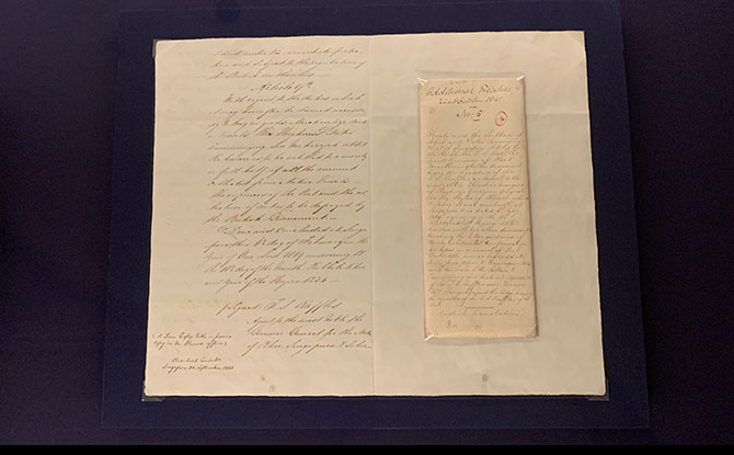 Document from British arrival in Singapore