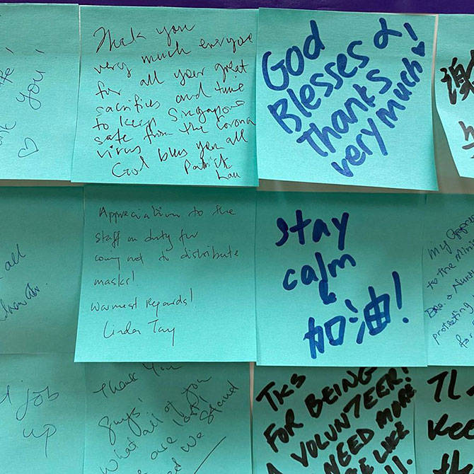 Pen Messages of Encouragement at RCs and Community Centres