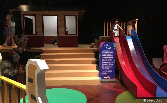 Slides and Kampong Hut
