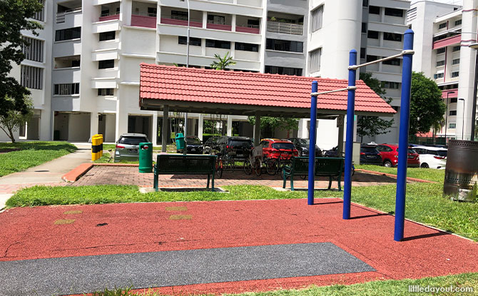 second segment of the fitness corner in Festival Park