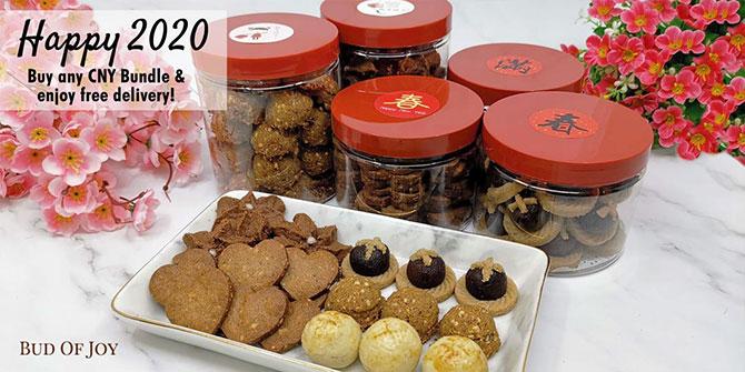 Bud of Joy's Organic and Healthier CNY cookies