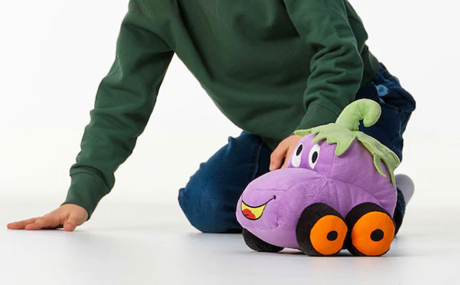 SAGOSKATT Soft toy, eggplant car