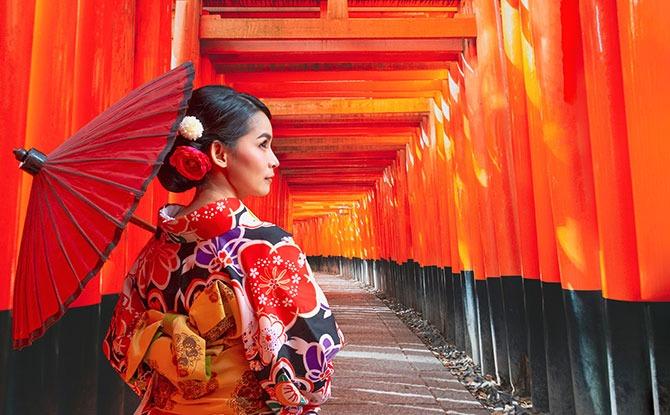 Enter the Torii gates at sea
