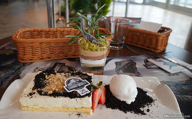 Jurassic World Café Singapore Dinosaur dessert