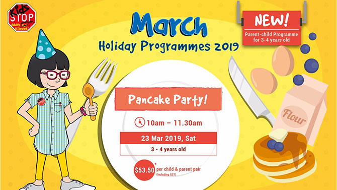 Pancake Party at KidsSTOP during the March 2019 school holidays