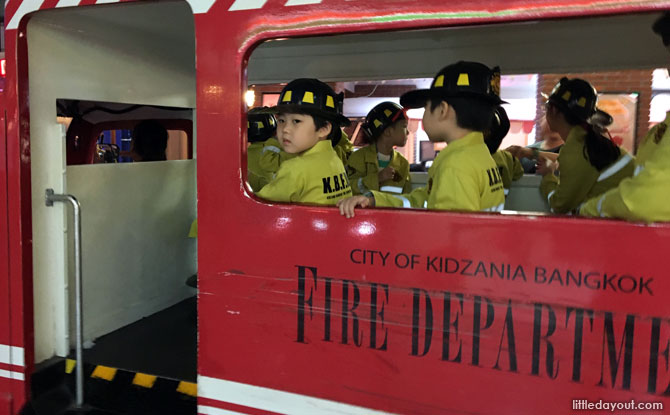 Fire Station at KidZania Bangkok