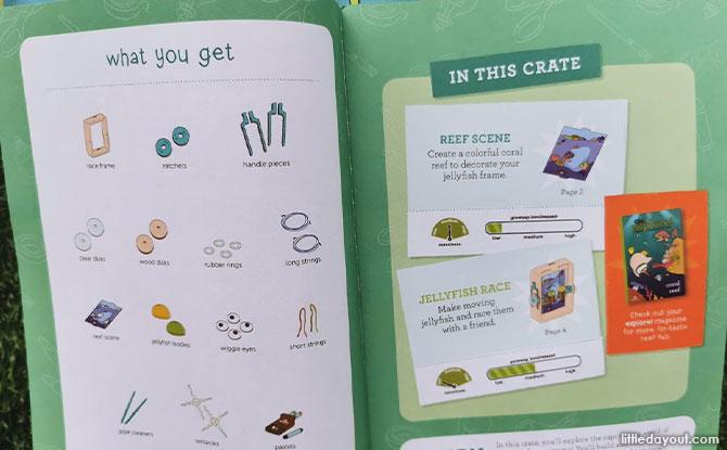 KiwiCo's Kiwi Crate Coral Reef Box Inspiration Book
