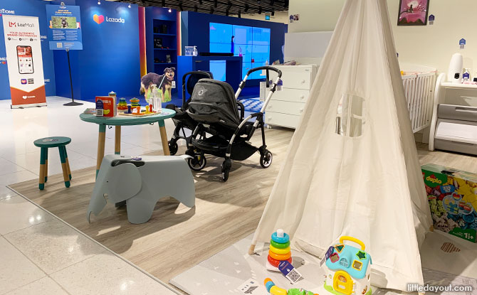 Kids Section at the Lazada Pop Up Store at Raffles City