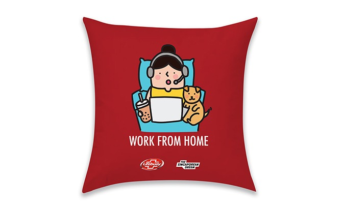 Singaporean Dream x Lifebuoy cushion