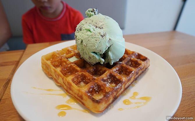 Ice Cream & Waffles at Tanglin Halt