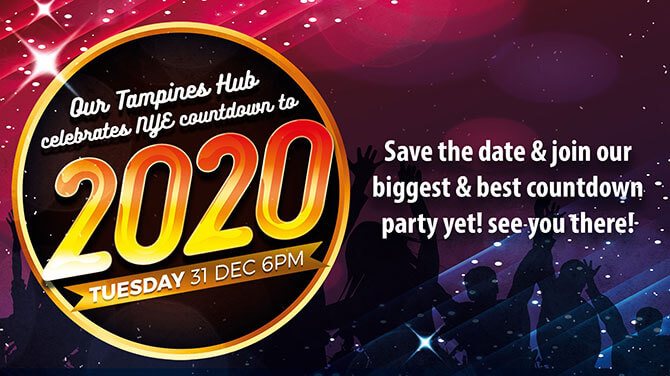 Our Tampines Hub Countdown to 2020 - New Year's Eve Countdown to 2020