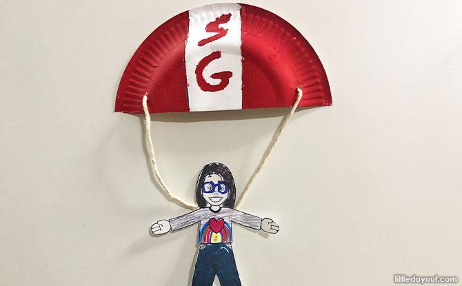 Paper Red Lion Parachute