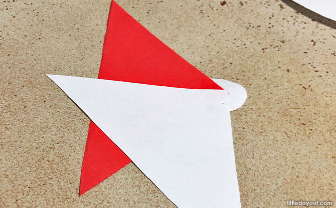 take a triangle and paste the first triangle with the apex facing the middle of the circle