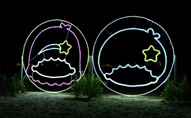 Sentosa Lights twin stars