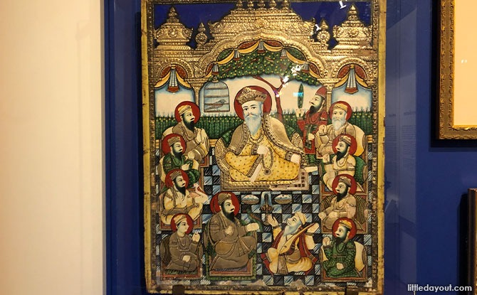 A Tanjore-style painting of the Ten Sikh Gurus