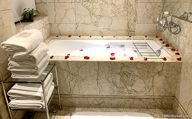 St. Regis Singapore Staycation Bubble Bath by Butler