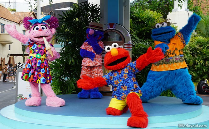 Cookie Monster, Elmo, Abby Cadabby and Grover from Sesame Street
