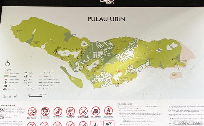 Pulau Ubin's Puaka Hill Map