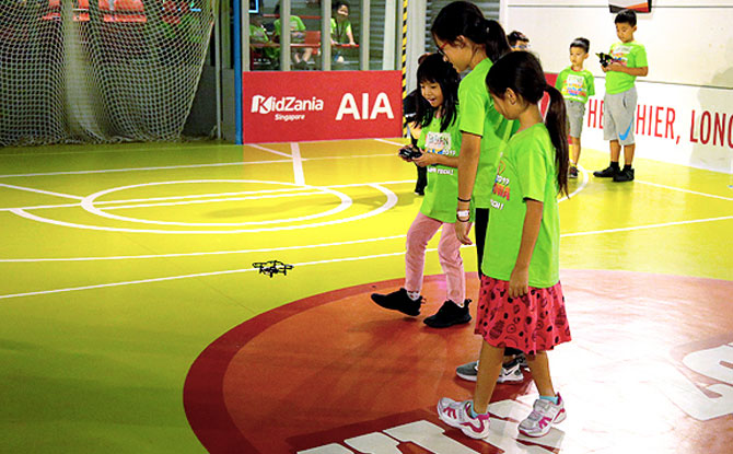 Drone Piloting at KidZania Singapore