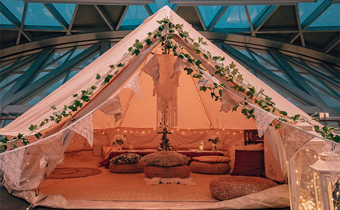 Glamping At Jewel Changi Airport: Have Sparkling Overnight Stay Under The Stars