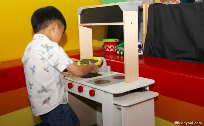 Toy kitchen at Happy Castle