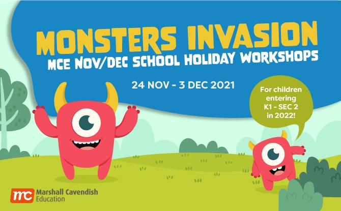 Sign Up for Marshall Cavendish Education's Monster Invasion Year-end 2021 Workshops