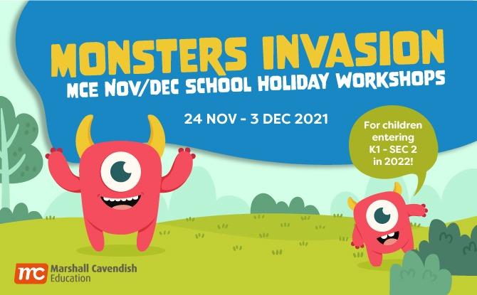 "Marshall Cavendish Education's ""Monster Invasion"" Nov / Dec Holiday Workshops 2021"